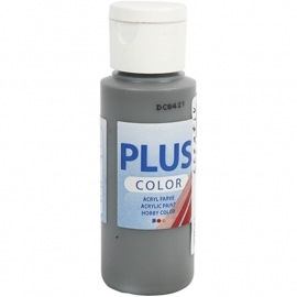 Plus color Verf 60 ml. donker grijs