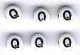 Letter porselein Q per stuk