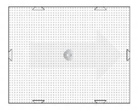 Basisplaat pixel 10 x 12 cm.