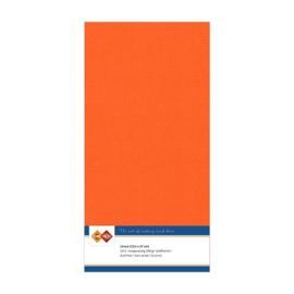 Linnen karton 13,5 x 27 cm. Oranje