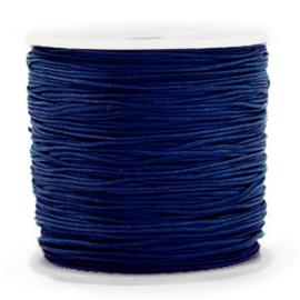 Macramé draad 0,8 mm. sodalite dark blue