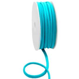 Stitched elastisch lint 5 mm. Ibiza blue zircon