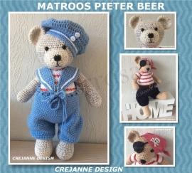 Pieter Beer Matroos en gratis kledingset Piraat papieren patroon