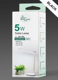 Tafellamp led zwart, 5 niveau's