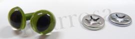 Poezenoogjes groen 10 mm.