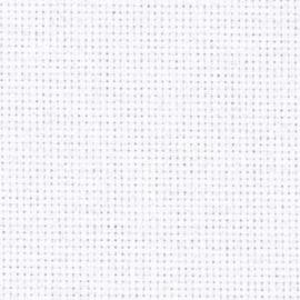 Aida borduurstof ( 18 count) 7,2 kruisjes per cm. wit