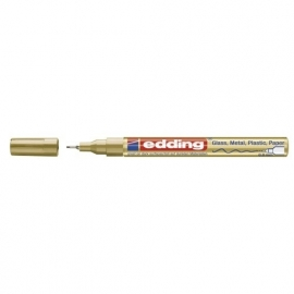 Lakmarker punt 0.8 mm. goud metallic