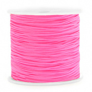 Macramé draad 0,8 mm. neon rose