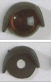 Oogleden zwart 12 mm. per paar