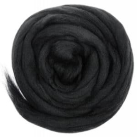 Lontwol EU 50 gram 633 Charcoal Black