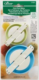 Clover pompom maker 2 stuks 6,5 - 8,5 cm.