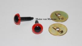 Veiligheidsoogjes rood 6 mm. per paar