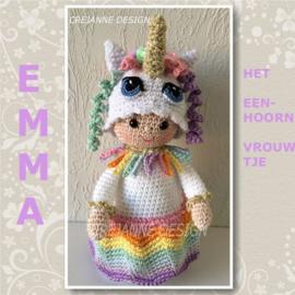 Emma de Eenhoorn papieren patroon
