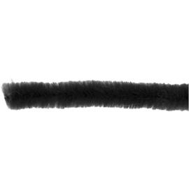 Chenilledraad 30 cm. zwart