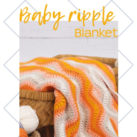 Baby Riple blanket orange, levertijd 1 dag
