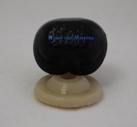 Veiligheidsneusjes zwart gaatjes 18 mm.