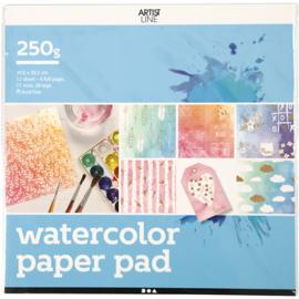 Aquarelpapier voorbedrukt
