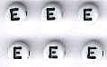 Letter porselein E per stuk