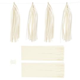 Papieren tassels wit