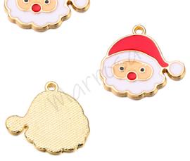 Bedel kerstman rood-wit/goudkleur