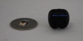 Veiligheidsneusjes zwart gaatjes 12 mm.