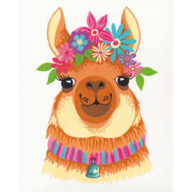Painting Flowery Llama 8+