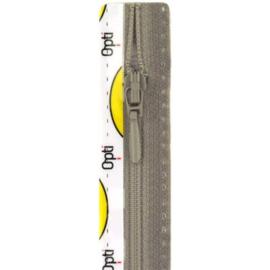 Opti rits druppel 40 cm., niet deelbaar licht grijs