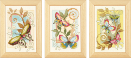 Borduurpakket Decoratieve vlinders
