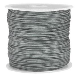 Macramé draad 0,8 mm. slate grey