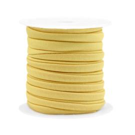 Stitched elastisch lint 4 mm. 25 cm. Golden yellow