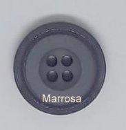 Knoop rond uni antraciet 22 mm.