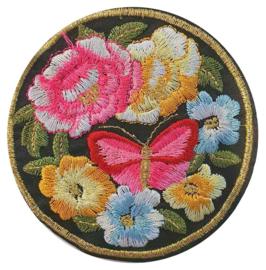 Applicatie bloemen-vlinder