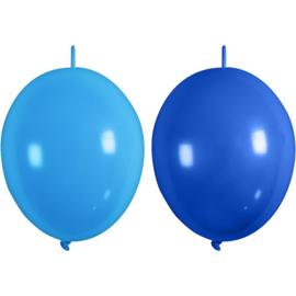 Ballonnen lichtblauw/blauw met link