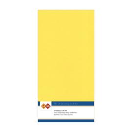 Linnen karton 13,5 x 27 cm. Kanarie geel