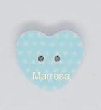 Knoop hartvorm polka dot blauw