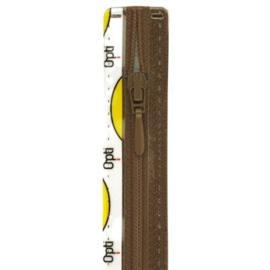Opti rits druppel 40 cm., niet deelbaar bruin