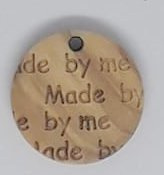 "Label rond tekst ""Made by Me"""