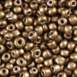 Metallic bruin brons 6/0 4 mm.
