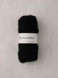 Bhedawol - gekaard vlies - 25 gr. zwart