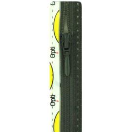 Opti rits druppel 40 cm., niet deelbaar legergroen
