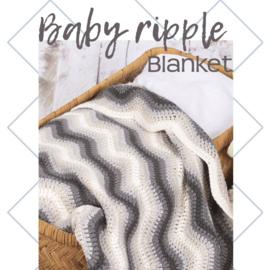 Baby Riple blanket black, levertijd 1 dag