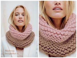 Breipakket 8 dames snood-sjaal two colors