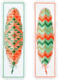 Borduurpakket bladwijzer Indianenveren