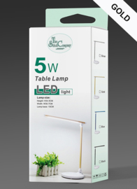 Tafellamp led goud, 5 niveau's