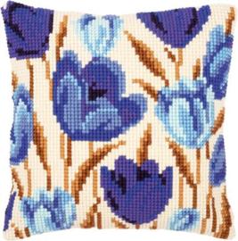 Borduurpakket Blauwe tulpen