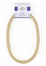 Houten borduurring ovaal 12,5 x 20 cm.
