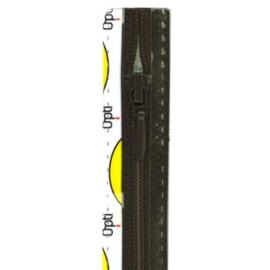 Opti rits druppel 40 cm., niet deelbaar donker grijs
