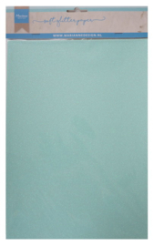 Soft glitter paper - mint 5 x A4