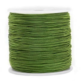 Macramé draad 0,8 mm. jungle green