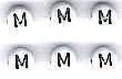 Letter porselein M per stuk